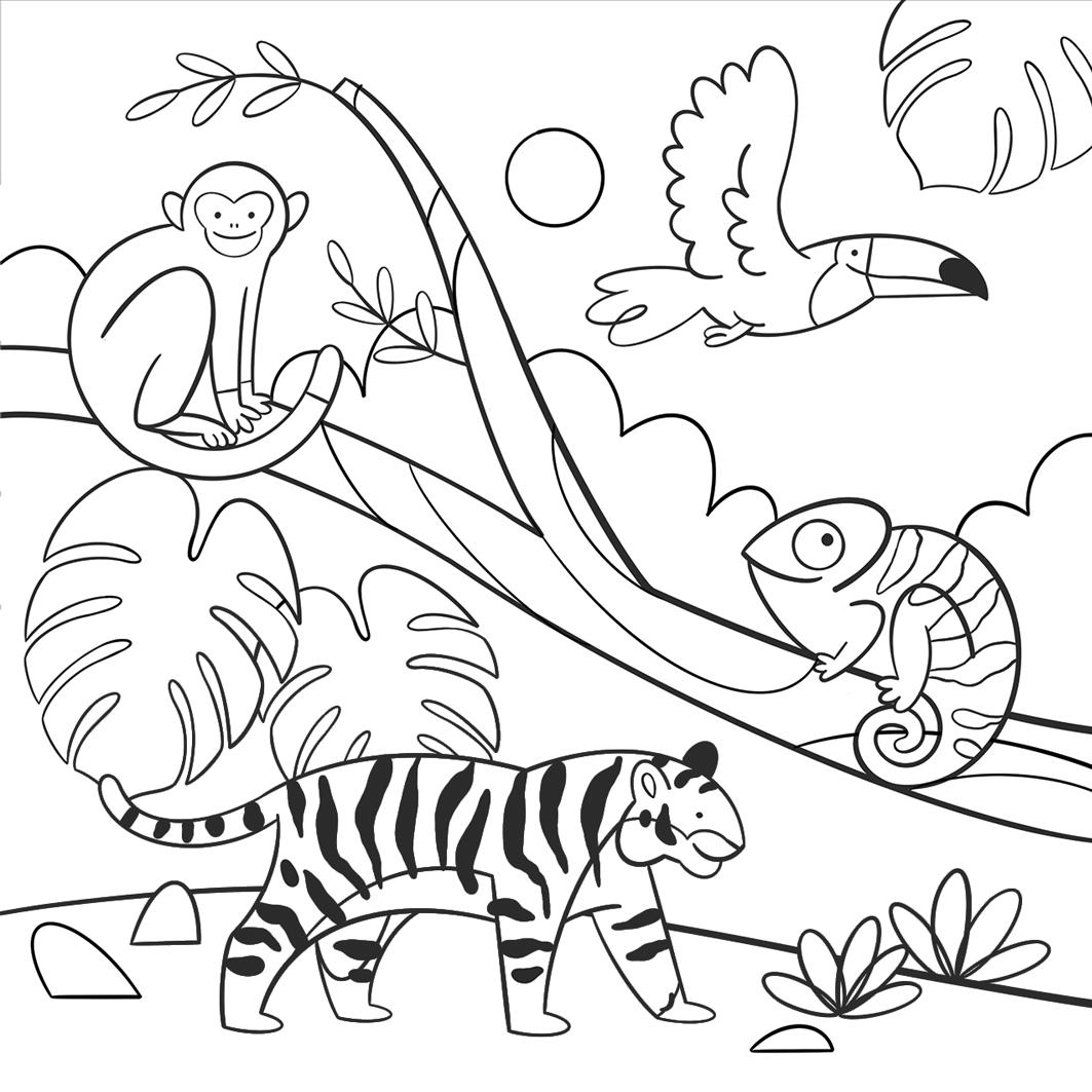 Mila Made jungle kleurplaat